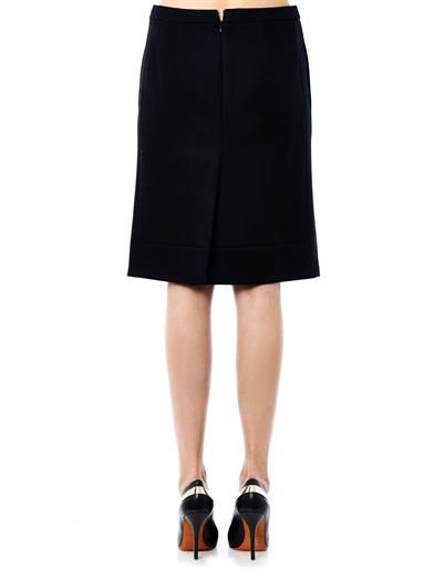 No. 21 Crystal embellished wool skirt