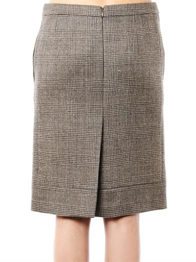 No. 21 Herringbone wool pencil skirt