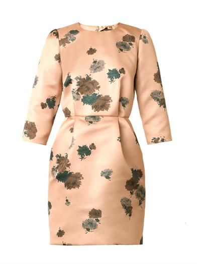 No. 21 Floral-print satin dress