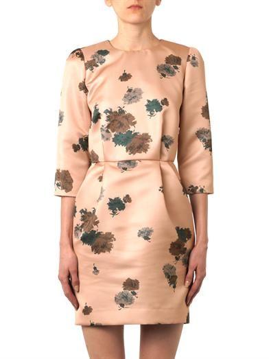 No. 21 Floral-print satin dress