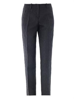 Jacquard tailored trousers