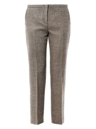 No. 21 Herringbone cropped wool trousers