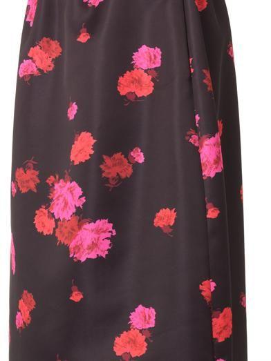 No. 21 Floral-print midi skirt