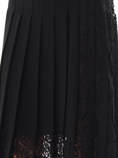 No. 21 Lace-panel pleated skirt