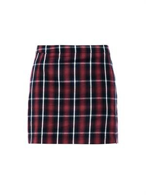 Plaid-print mini skirt