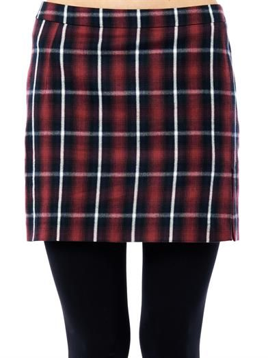 No. 21 Plaid-print mini skirt