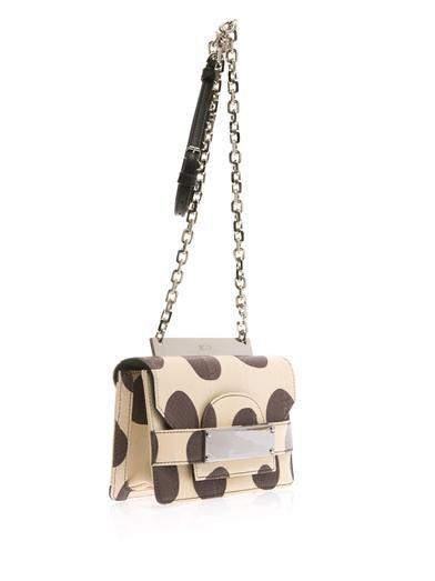 No. 21 Polka-dot snakeskin cross-body bag
