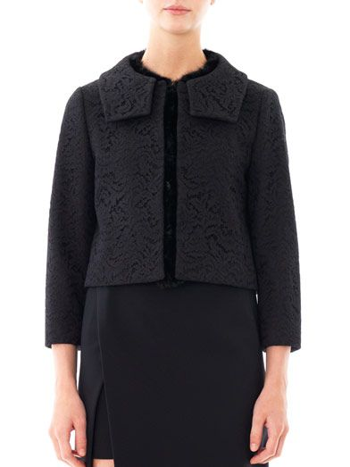 No. 21 Fur-trim wool jacket