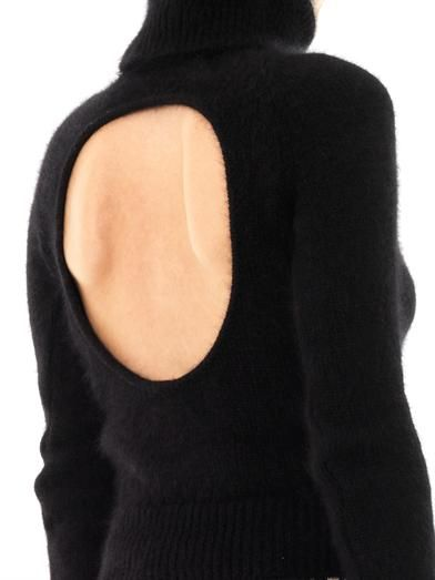 No. 21 Open-back angora sweater