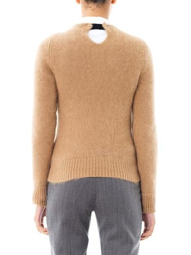 No. 21 Mohair round-neck sweater