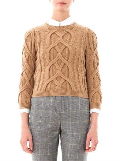 No. 21 Engineered-knit wool sweater