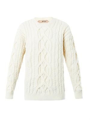 Engineered knit sweater