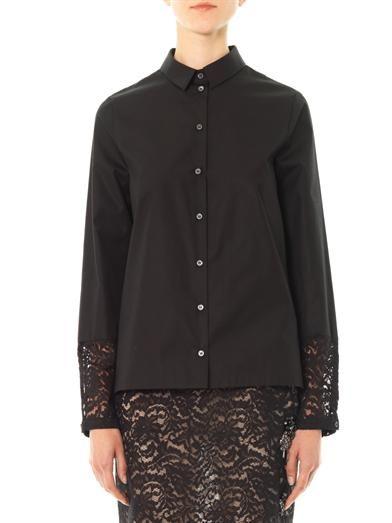 No. 21 Lace insert cotton blouse