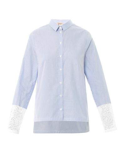 No. 21 Lace-insert cotton shirt