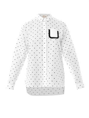 Polka-dot cotton shirt