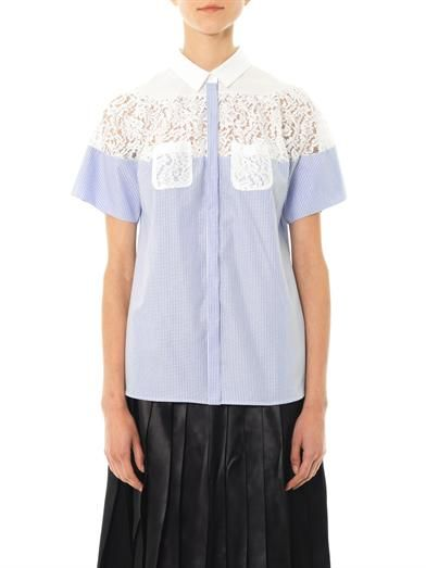 No. 21 Cotton lace insert blouse