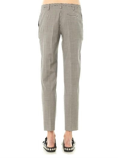 No. 21 Gingham check trousers