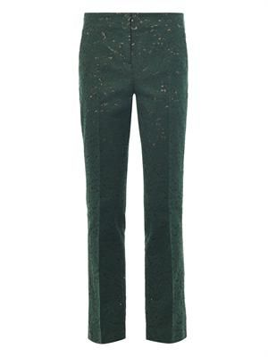 Tailored lace trousers