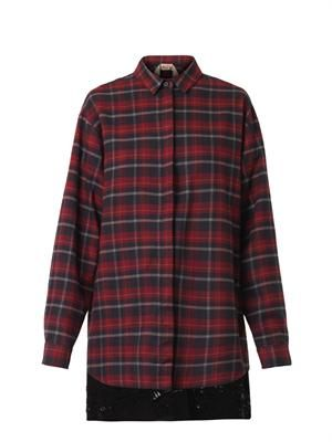 Checked flannel shirt-dress