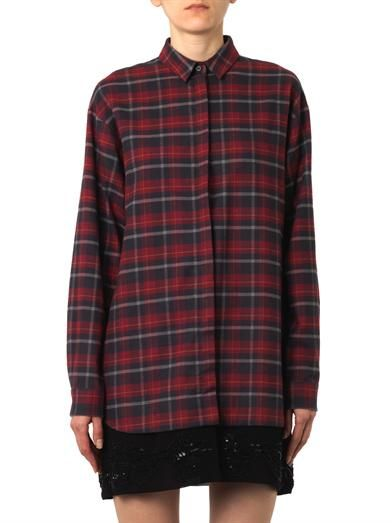 No. 21 Checked flannel shirt-dress