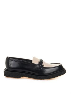 Type 29 bi-colour leather loafers