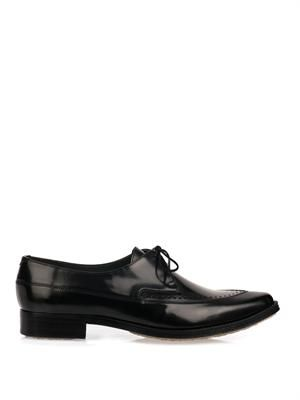 Type 25 point-toe lace-up shoes