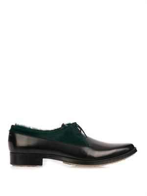 Type 30 calf-hair derby shoes