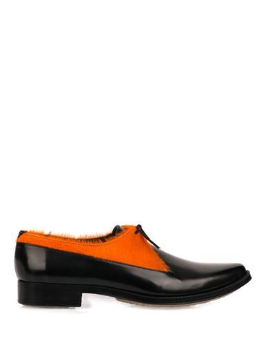 Adieu Type 30 calf-hair derby shoes