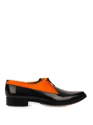 Type 30 calf-hair derby shoes