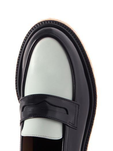 Adieu Type 5 bi-colour leather loafers
