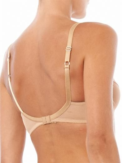 Deborah Marquit Sheer stretch-tulle demi-cup bra
