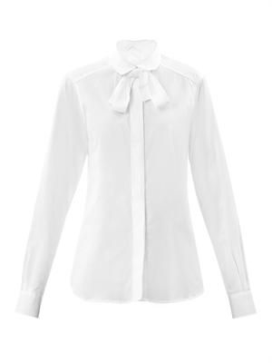 Akito point-collar cotton shirt