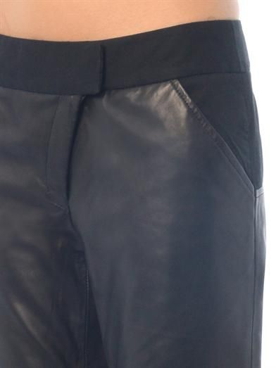 Thakoon Addition Asymmetric-zip leather trousers