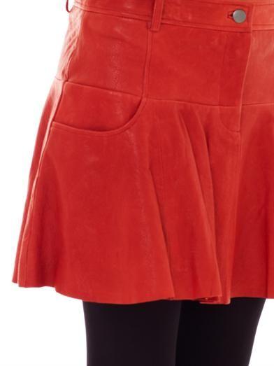 Thakoon Addition Leather tulip skirt