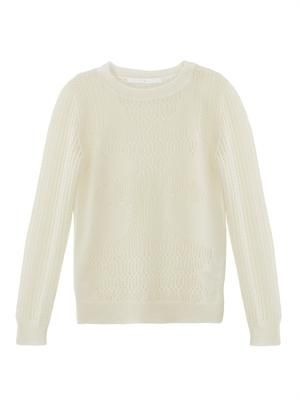 Mohair lace-knit sweater