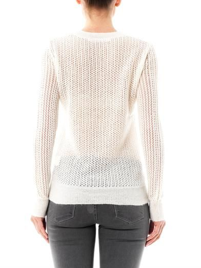 Thakoon Addition Mohair lace-knit sweater