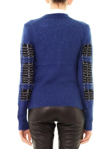 Thakoon Addition Plaid mohair-blend sweater