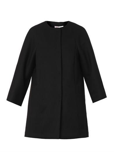 REDValentino Bow-back piqué coat