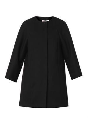 Bow-back piqué coat