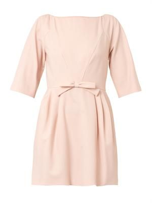Crepe bow dress