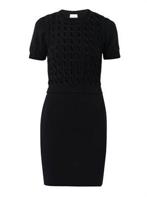 Virgin-wool knit dress