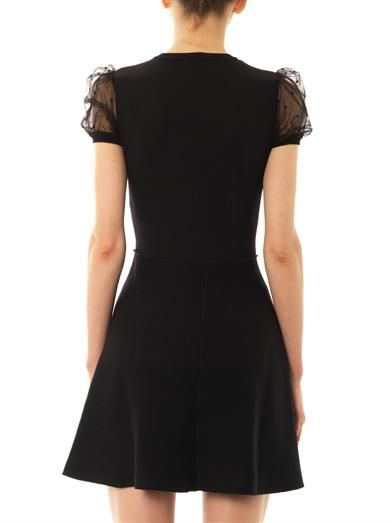 REDValentino Star-tulle knit dress