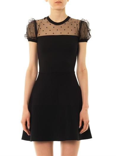 REDValentino Star-tulle knit dress
