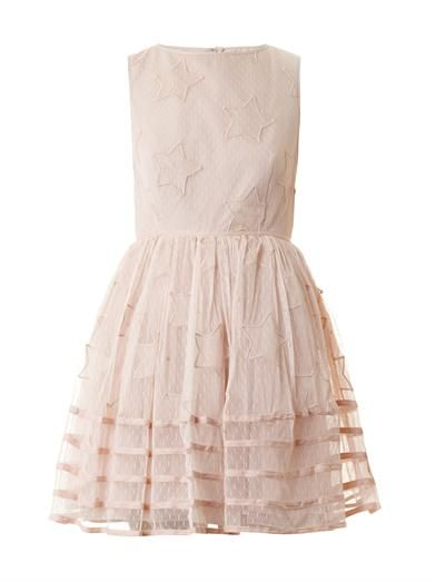 REDValentino Star-embroidered tuelle dress