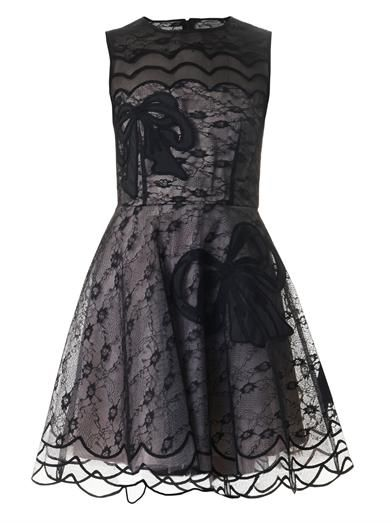 REDValentino Bow-embroidered lace dress