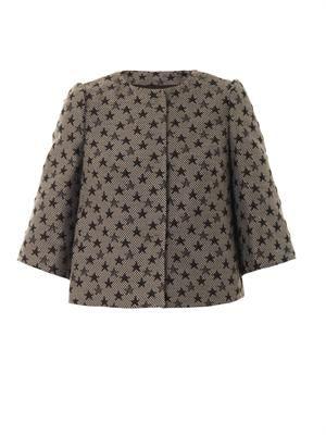Star-jacquard cropped jacket