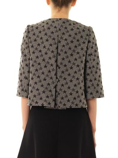 REDValentino Star-jacquard cropped jacket
