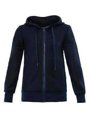Weekender mesh hooded sweatshirt