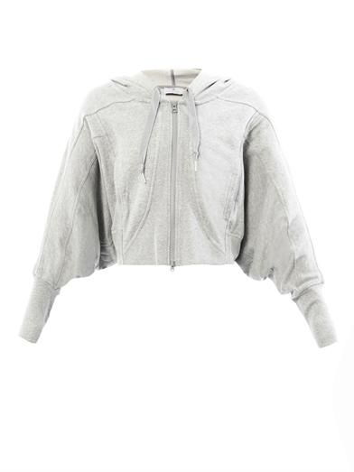 Adidas by Stella Mccartney Studio cropped hooded sweatshirt