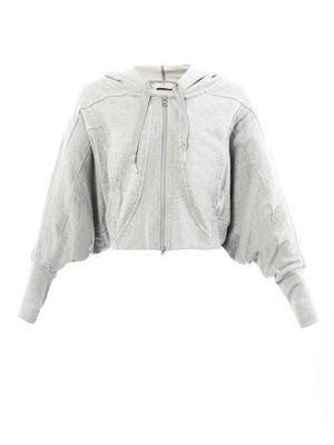Studio cropped hooded sweatshirt